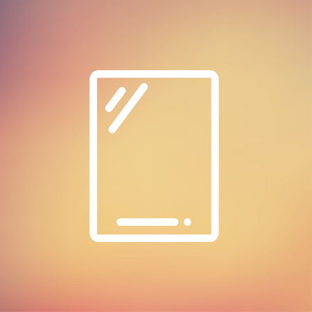 touchpad: Gadget icon thin line for web and mobile, modern minimalistic flat design. Vector white icon on gradient mesh background. Illustration