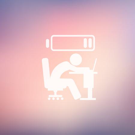 Out de l'énergie homme icône dans le style plat pour le web et mobile, design plat moderne et minimaliste. Vecteur icône sur fond gradient maille Vecteurs