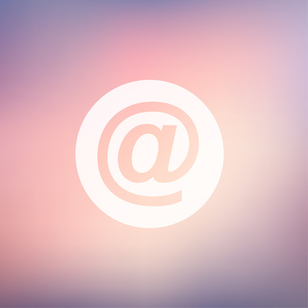 email symbol icon in flat style for web and mobile, modern minimalistic flat design. Vector white icon on gradient mesh background Vector