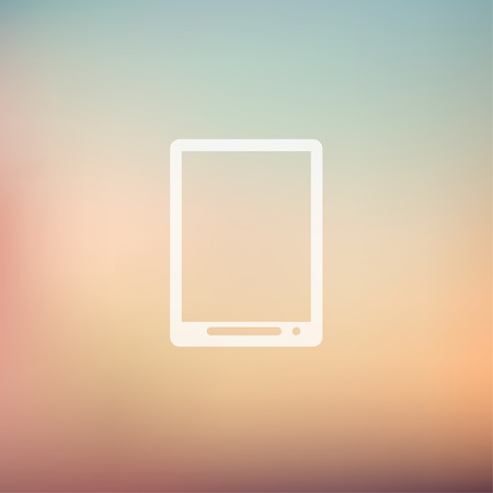 Modern tablet icon in flat style for web and mobile, modern minimalistic flat design. Vector white icon on gradient mesh background