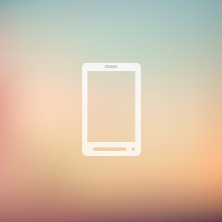mobile banking: Mobile phone icon in flat style for web and mobile, modern minimalistic flat design. Vector white icon on gradient mesh background