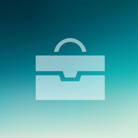 Briefcase icon in flat style for web and mobile, modern minimalistic flat design. Vector white icon on gradient mesh background