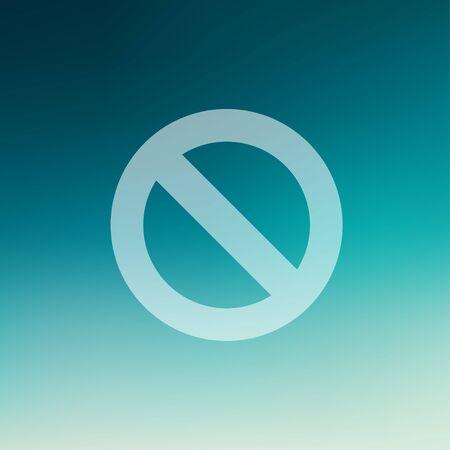 smoldering: Non ammessi icona di stile piano per il web e mobile, moderno design piatto minimalista. Vector bianco icona gradiente maglie sfondo