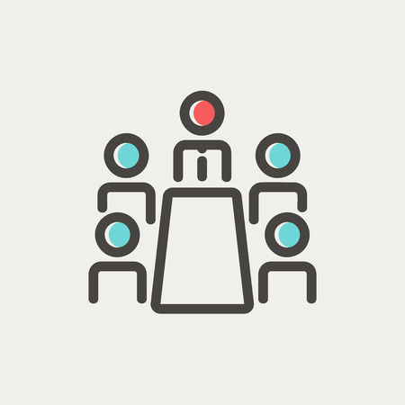wireless signal: Man and wireless signal icon thin line for web and mobile, modern minimalistic flat design. Vector icon with dark grey outline and offset colour on light grey background.
