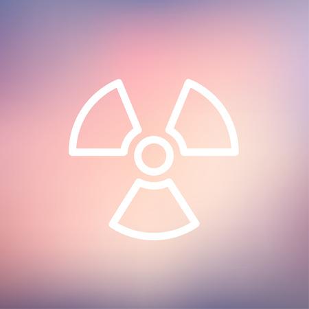 Propeller icon thin line for web and mobile, modern minimalistic flat design. Vector white icon on gradient mesh background. Illusztráció