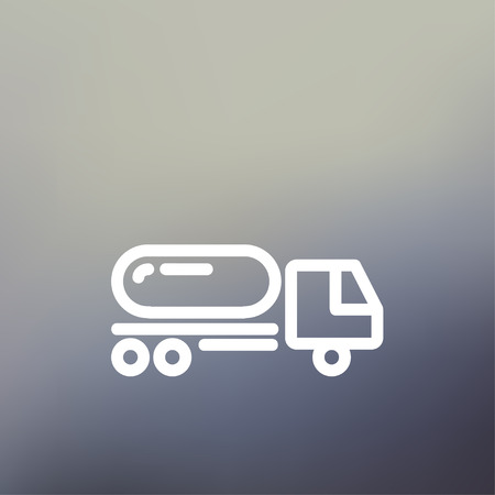 fuel truck: Fuel truck icon thin line for web and mobile, modern minimalistic flat design. Vector white icon on gradient mesh background. Illustration