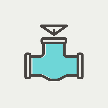 oil pipe: Oil pipe icon thin line for web and mobile, modern minimalistic flat design. Vector icon with dark grey outline and offset colour on light grey background.