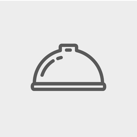 minimal: Food serving tray icon thin line for web and mobile, modern minimalistic flat design. Vector dark grey icon on light grey background.