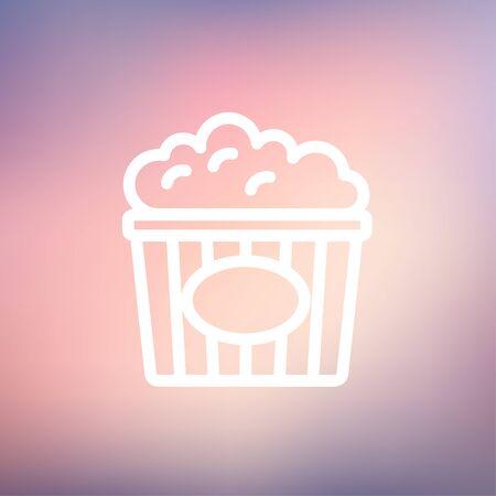 Popcorn icône fine ligne pour le web et mobile, design plat moderne et minimaliste. Vecteur icône sur gradient maille fond. Banque d'images - 39174552