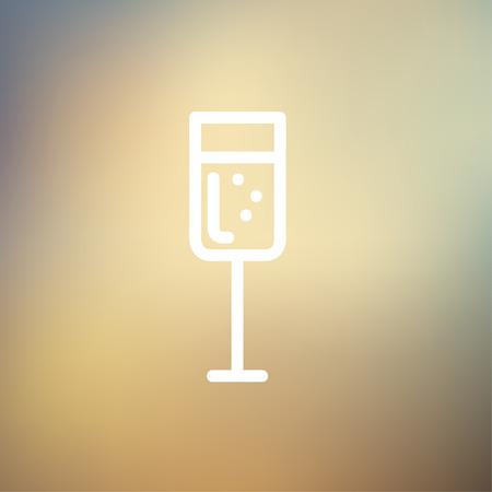 minimalistic: Wine glass icon thin line for web and mobile, modern minimalistic flat design Illustration
