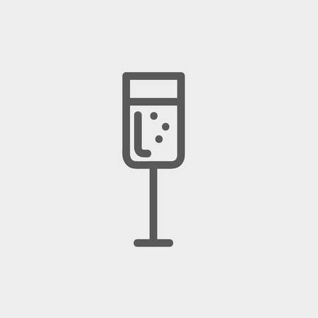 Wine glass icon thin line for web and mobile, modern minimalistic flat design.