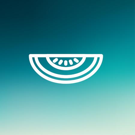 minimalistic: Melon icon thin line for web and mobile, modern minimalistic flat design. Illustration