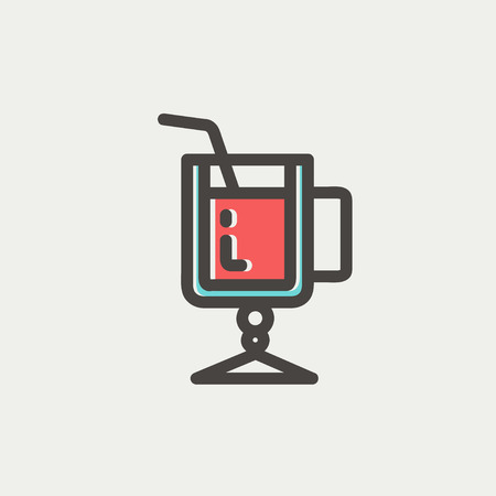 lime juice: Lime juice icon thin line for web and mobile, modern minimalistic flat design. Vector icon with dark grey outline and offset colour on light grey background.