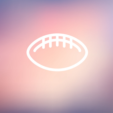 Football ball icon thin line for web and mobile, modern minimalistic flat design. Vector white icon on gradient mesh background.