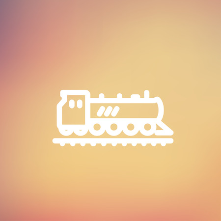 the hovercraft: Railroad train icon thin line for web and mobile, modern minimalistic flat design. Vector white icon on gradient mesh background.