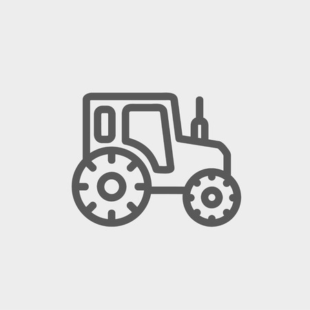 offroad car: Offroad car icon thin line for web and mobile, modern minimalistic flat design. Vector dark grey icon on light grey background.