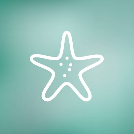 seafish: Starfish icon thin line for web and mobile, modern minimalistic flat design. Vector white icon on gradient mesh background.