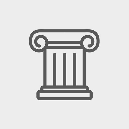 Ancient wall icon thin line for web and mobile, modern minimalistic flat design. Vector dark grey icon on light grey background.