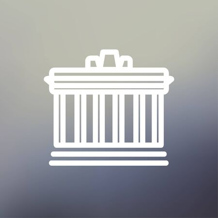 National Library icon thin line for web and mobile, modern minimalistic flat design. Vector white icon on gradient mesh background. 向量圖像