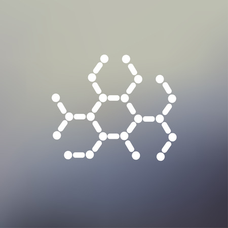 DNA molecule icon thin line for web and mobile, modern minimalistic flat design. Vector white icon on gradient mesh background.