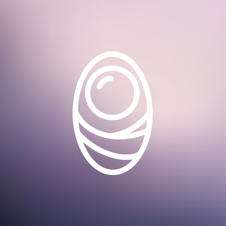 fertile: Human cell icon thin line for web and mobile, modern minimalistic flat design. Vector white icon on gradient mesh background.