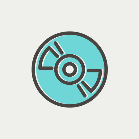 hi fi: Reel tape deck player recorder icon thin line for web and mobile, modern minimalistic flat design. Vector icon with dark grey outline and offset colour on light grey background. Illustration