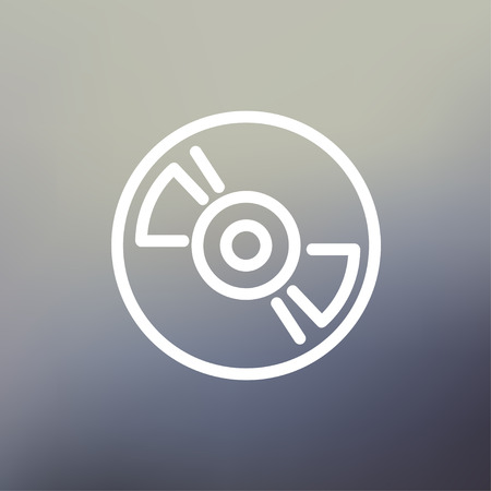 hi fi: Reel tape deck player recorder icon thin line for web and mobile, modern minimalistic flat design. Vector white icon on gradient mesh background.
