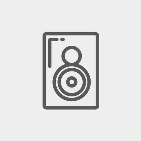 reverberation: Two way audio speaker icon thin line for web and mobile, modern minimalistic flat design. Vector dark grey icon on light grey background. Illustration