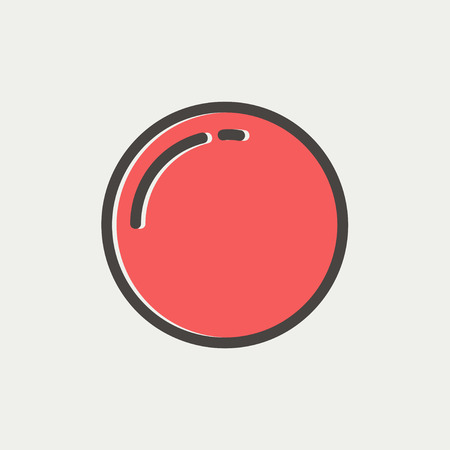 Stop sign icon thin line for web and mobile, modern minimalistic flat design. Vector icon with dark grey outline and offset colour on light grey background. Vector