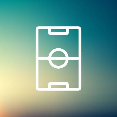 Fußballplatz icon dünne Linie für Web und mobile, modern minimalistisch flache Bauweise. Vektor-Symbol auf weißem Hintergrund Farbverlauf Netz. Standard-Bild - 40279598