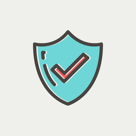 Bestseller guaranteed badge icon thin line for web and mobile, modern minimalistic flat design. Vector icon with dark grey outline and offset colour on light grey background. Ilustração