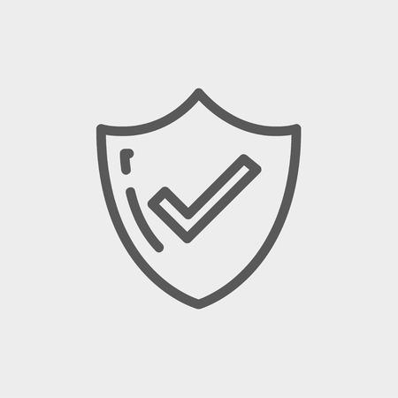 Bestseller guaranteed badge icon thin line for web and mobile, modern minimalistic flat design. Vector dark grey icon on light grey background. Ilustração