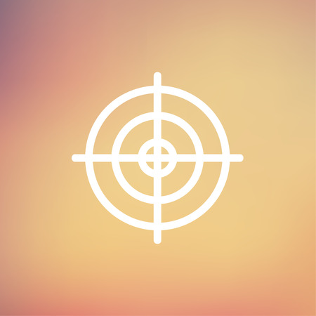 crosshair: Crosshair target icon thin line for web and mobile, modern minimalistic flat design. Vector white icon on gradient mesh background.