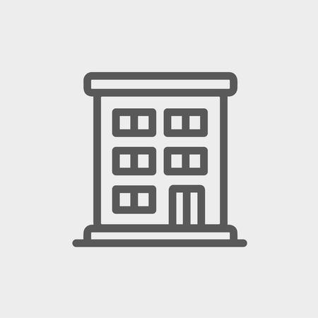 cemented: Icono de la construcci�n delgada l�nea Residencial para web y m�vil, dise�o plano minimalista moderno. Vector icono de color gris oscuro sobre fondo gris claro.
