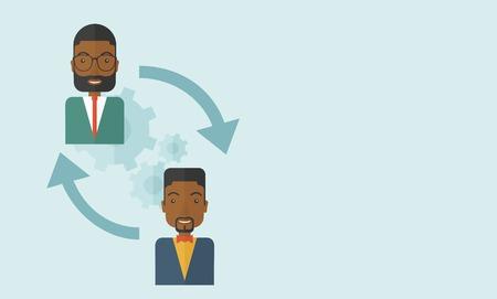 uomini di colore: Due uomini neri in scambio di idee