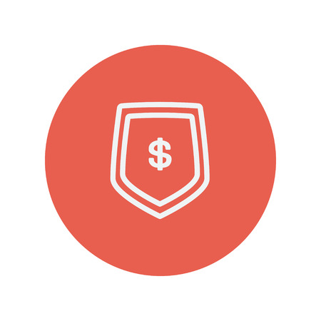 jeans pocket: Jeans pocket with dollar symbol thin line icon for web and mobile minimalistic flat design. Vector white icon inside the red circle.
