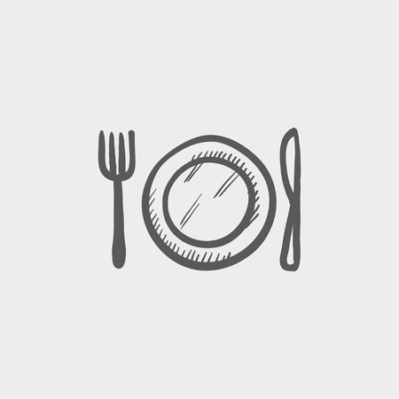 Popcorn sketch icon for web and mobile. Hand drawn vector dark grey icon on light grey background.