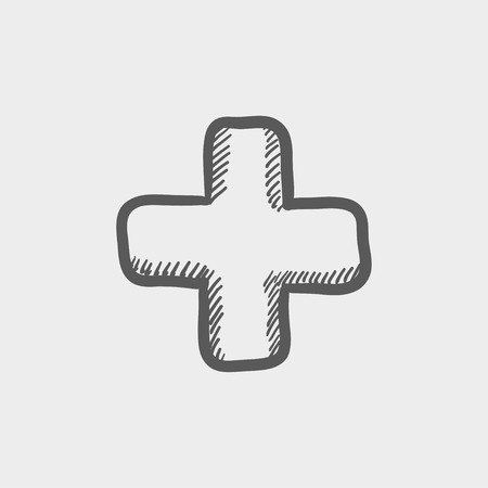 High volume sketch icon for web and mobile. Hand drawn vector dark grey icon on light grey background.