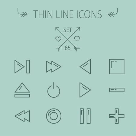 high volume: Music and entertainment thin line icon set for web and mobile. Set includes- function keys for music icons. Modern minimalistic flat design. Vector dark grey icon on grey background.