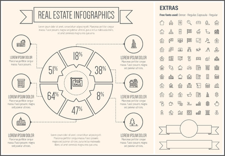 housing estate: Real Estate infographic template and elements.