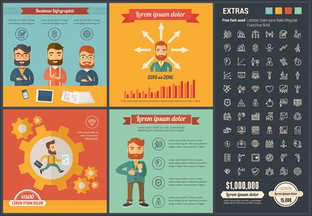 business: Business infographic template and elements.  Illustration