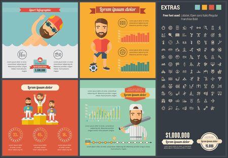 Deportes plantilla infografía y elementos. Foto de archivo - 43892822