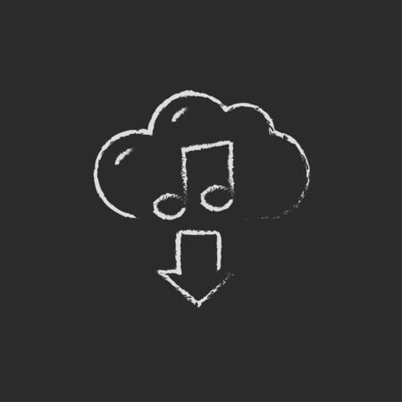 Download music hand drawn in chalk on a blackboard vector white