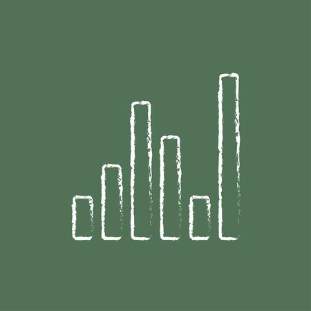 Galiseur numérique à la main dessiné à la craie sur un tableau blanc icône blanc vecteur isolé sur fond vert. Banque d'images - 45682377