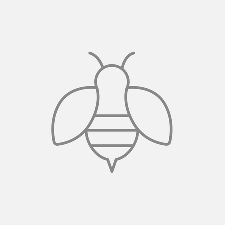 fructose: Bee line icon for web, mobile and infographics. Vector dark grey icon isolated on light grey background.