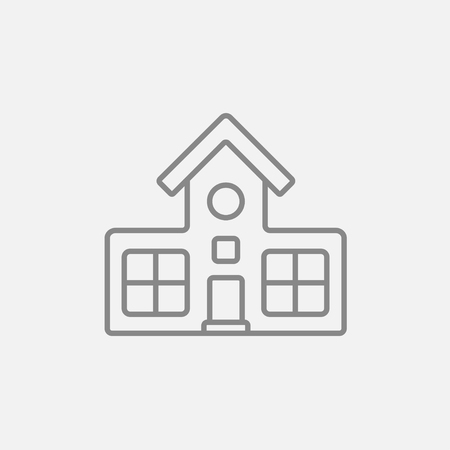 Building line icon for web, mobile and infographics. Vector dark grey icon isolated on light grey background.