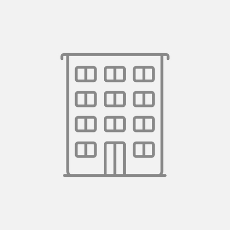 cemented: Residential building line icon for web, mobile and infographics. Vector dark grey icon isolated on light grey background. Illustration