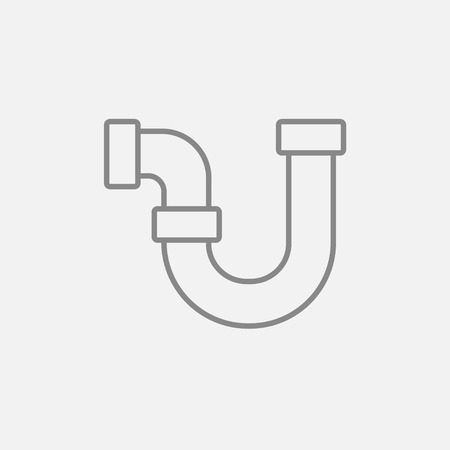 Water pipeline line icon for web, mobile and infographics. Vector dark grey icon isolated on light grey background. 일러스트