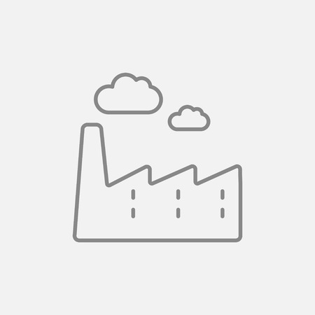 distill: Factory line icon for web, mobile and infographics. Vector dark grey icon isolated on light grey background.