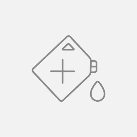 tank car: Gas container line icon for web, mobile and infographics. Vector dark grey icon isolated on light grey background.